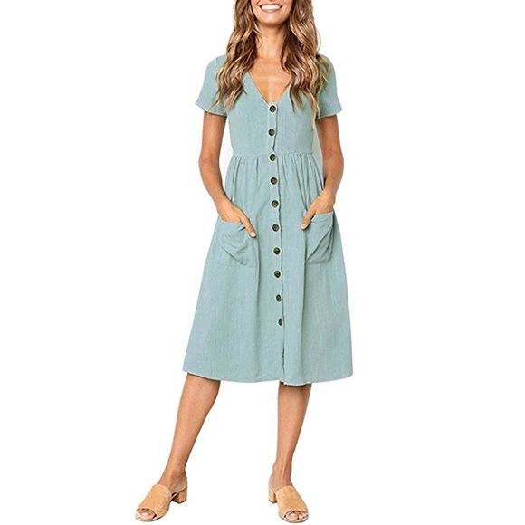 2a0e2944273 👗BELLE Button Down Summer Dress👗